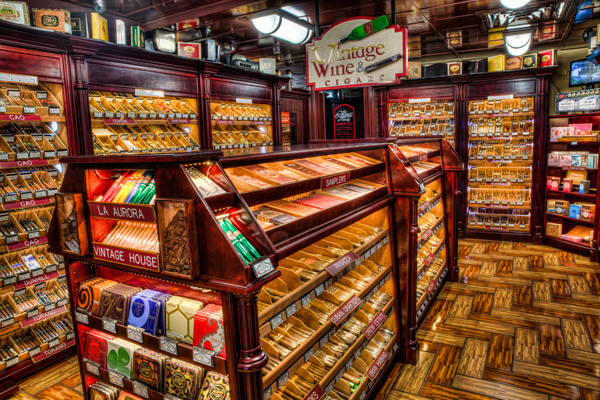 Choose your favorite cigars from the climate-controlled humidor.